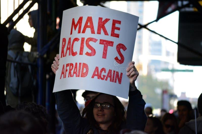 Proteste di Trump fotografia stock libera da diritti