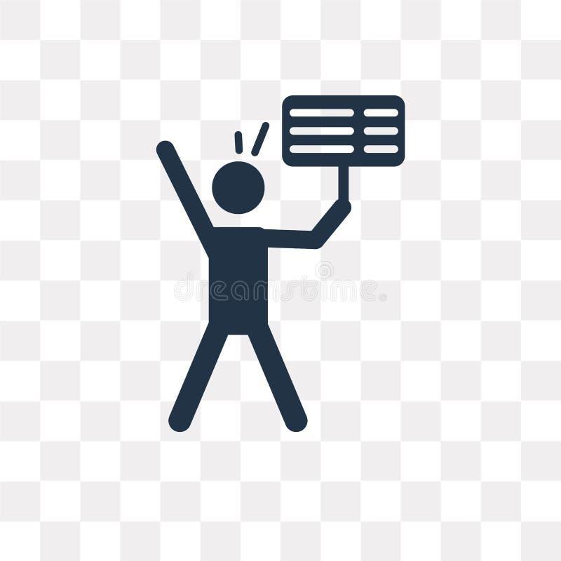 Proteste el icono del vector aislado en el fondo transparente, protesta libre illustration