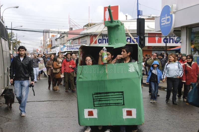 Proteste nel Cile fotografie stock libere da diritti