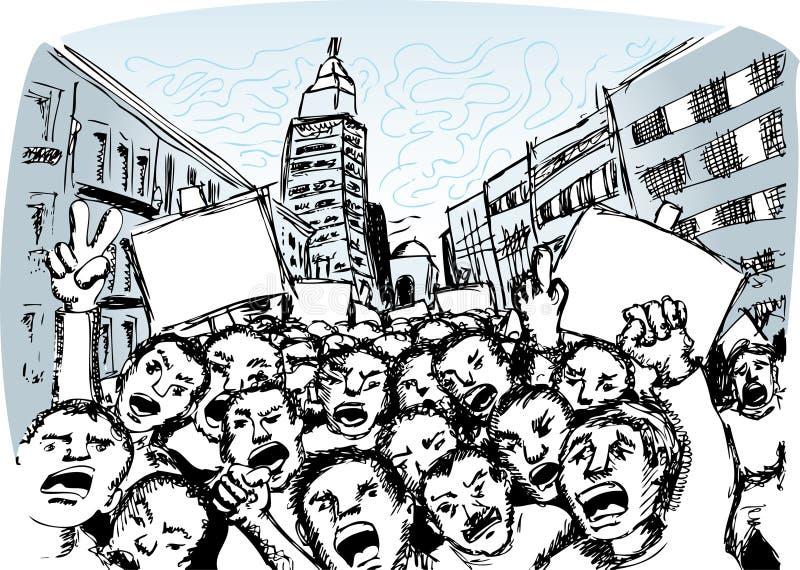 Protesteerders stock illustratie