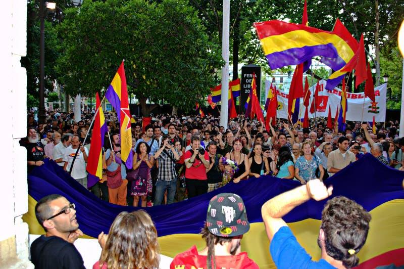 Protesten tegen monarchie 2 stock fotografie