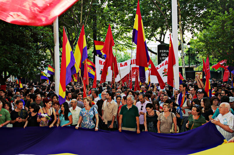 Protesten tegen monarchie 3 stock foto