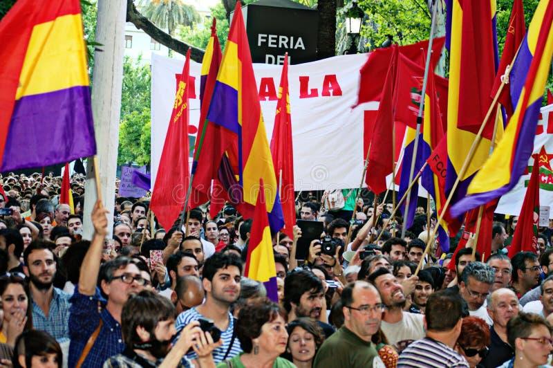 Protesten tegen monarchie 4 royalty-vrije stock afbeeldingen