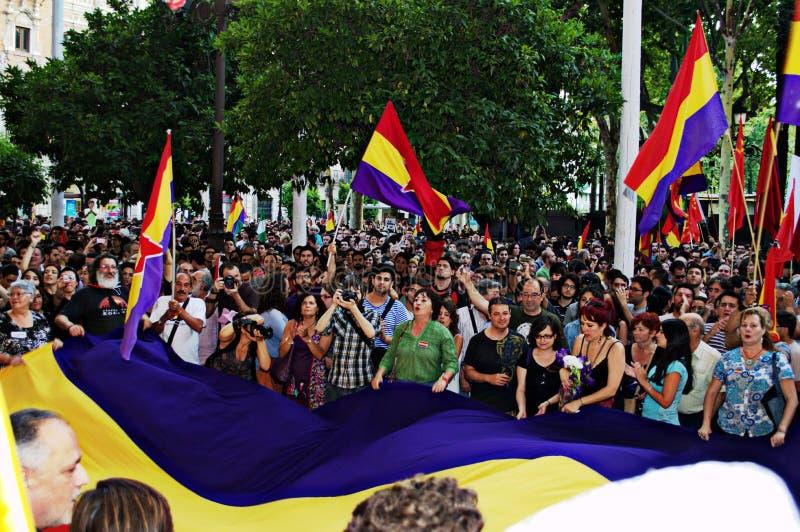 Protesten tegen monarchie 6 royalty-vrije stock foto