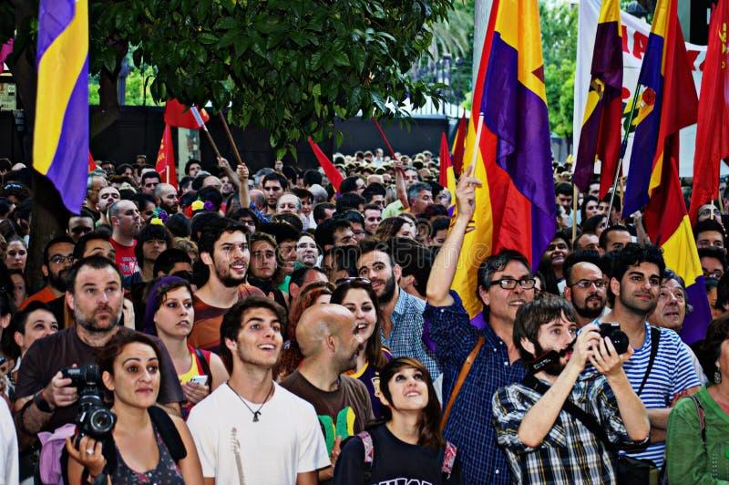 Protesten tegen monarchie 9 royalty-vrije stock foto's