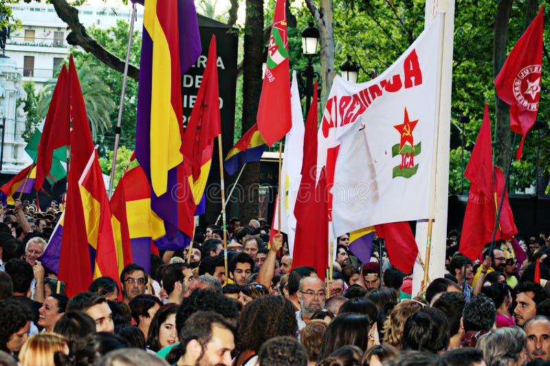 Protesten tegen monarchie 13 stock afbeeldingen