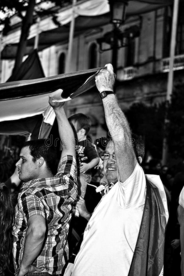 Protesten tegen monarchie 21 stock foto