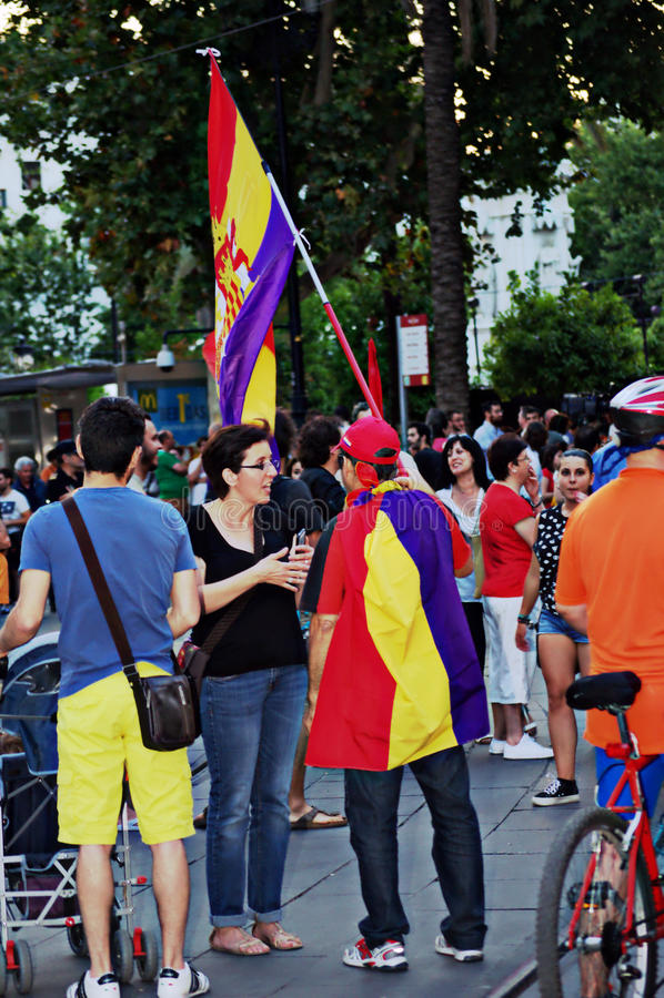 Protesten tegen monarchie 24 stock foto