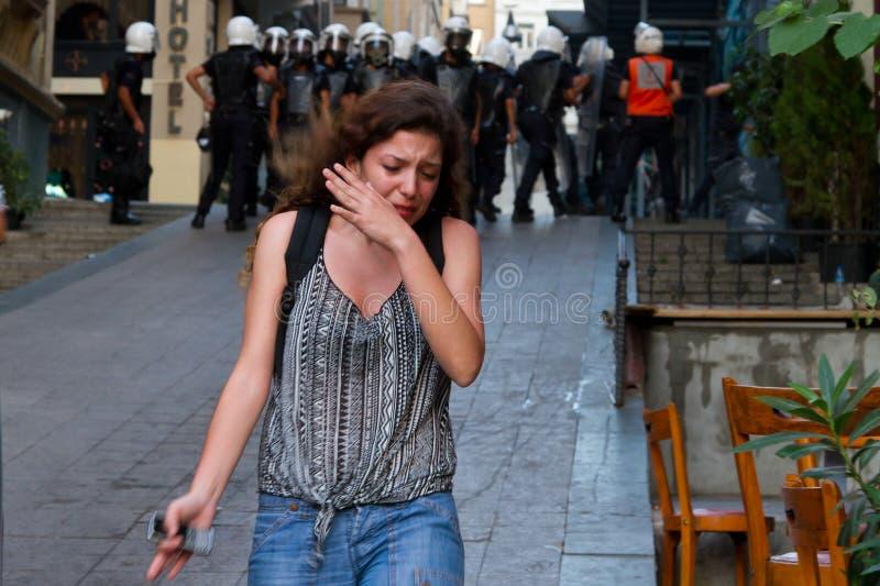 Protesten in Turkije royalty-vrije stock foto