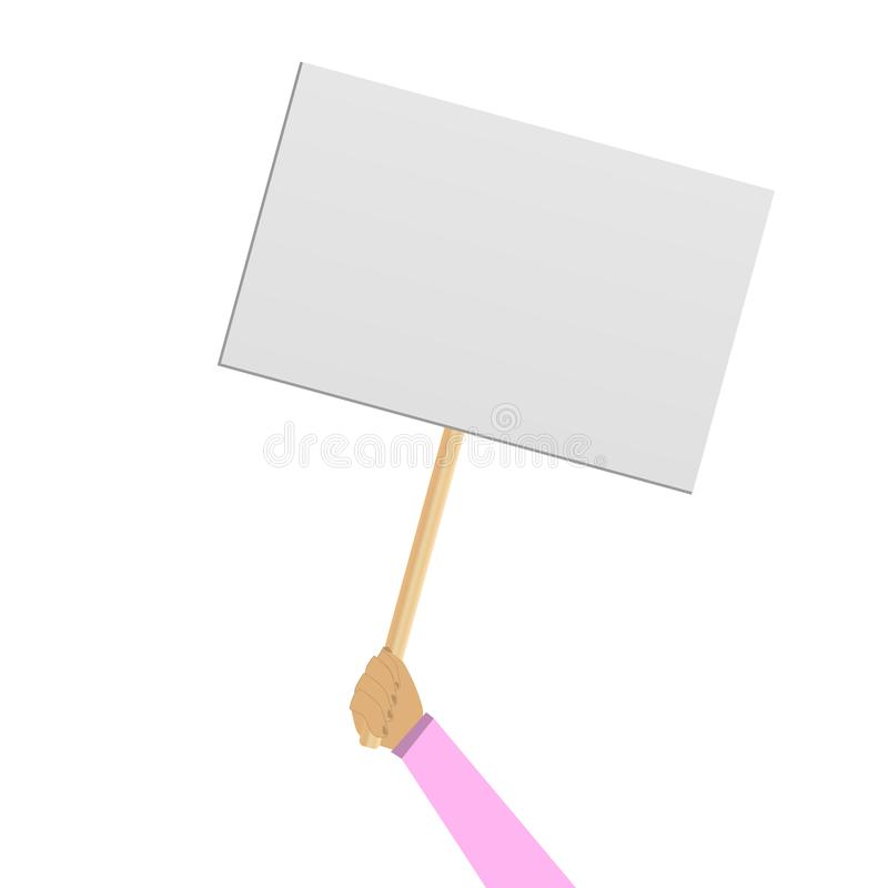 Free Protester Banner. Concept Royalty Free Stock Photography - 164043117