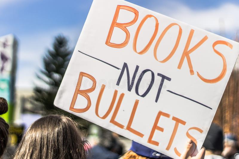 March for Our Lives Seattle royalty free stock images