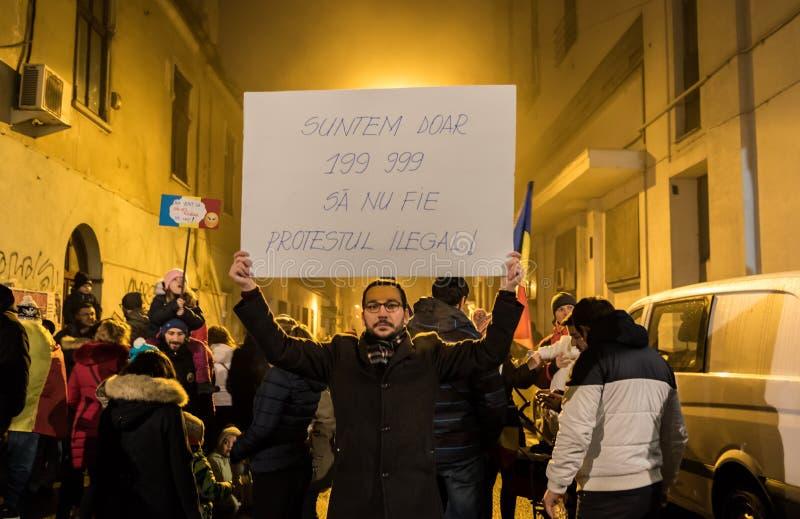 Protester i Rumänien arkivfoto