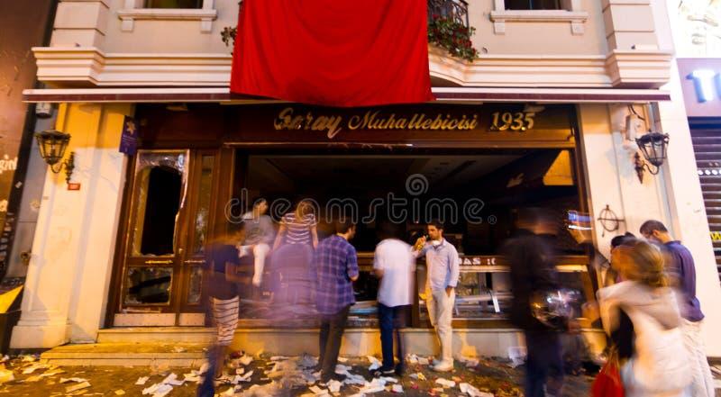 Protester i Turkiet royaltyfri fotografi