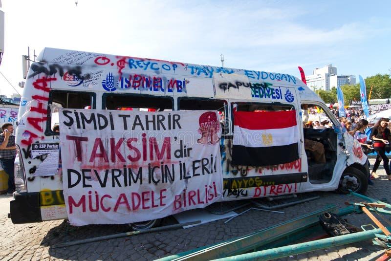 Protester i Turkiet royaltyfri bild