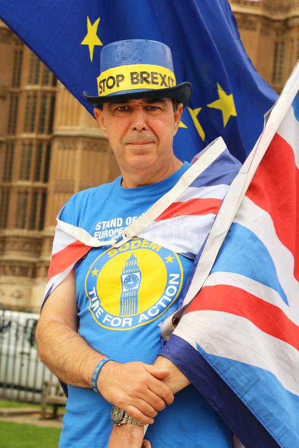 Anti-Brexit protestor in London royalty free stock photography