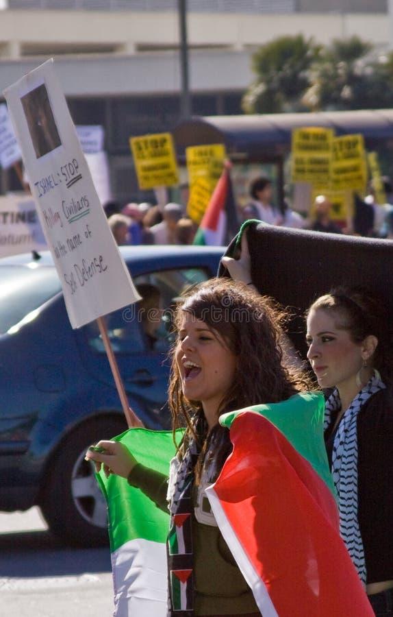 protestera för israel palestinier royaltyfri bild