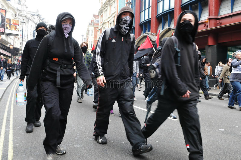 Download Protesters At An Austerity Rally In London Editorial Photography - Image: 22810502