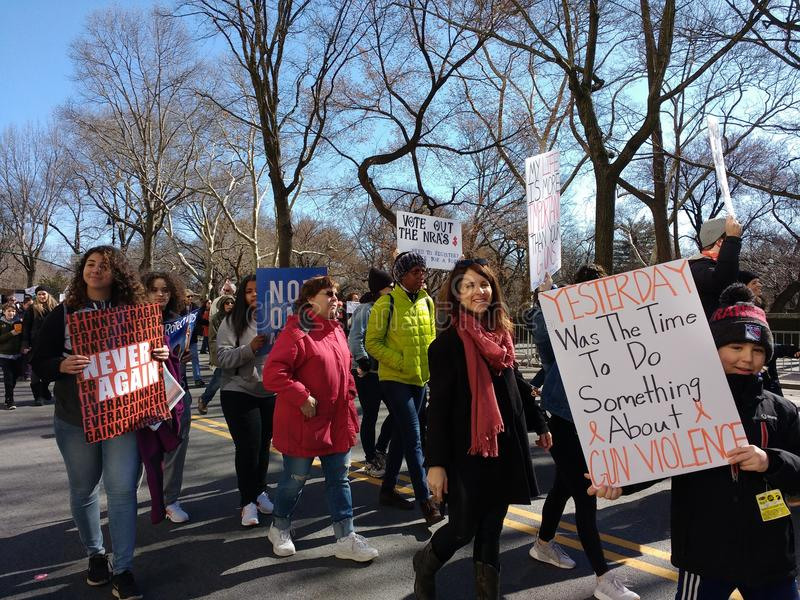 Gun Violence in America, March for Our Lives, Protest, Never Again, NYC, NY, USA stock photo