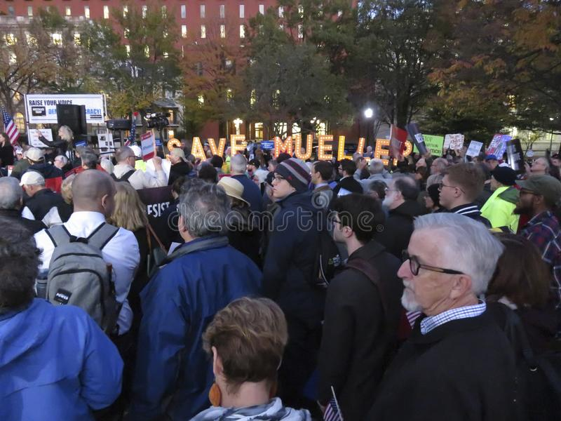 Protesters at Lafayette Park in November in Washington DC royalty free stock photos
