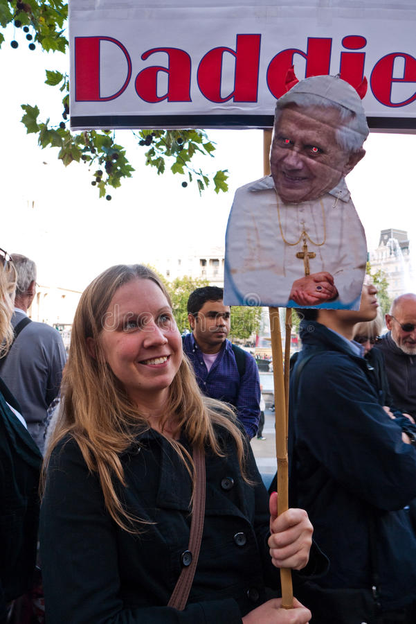 Download Protesters March Against The Pope's Visit London Editorial Stock Photo - Image: 16116863