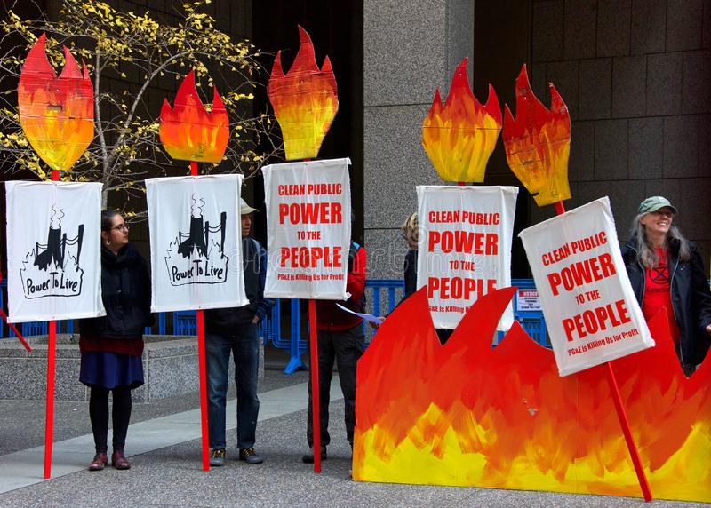 Protesters outside PG royalty free stock images