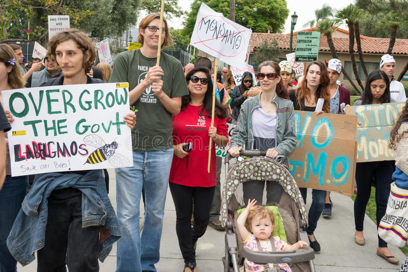 Download Protesters Rallied In The Streets Against The Monsanto Corporation. Editorial Photo - Image: 40955466