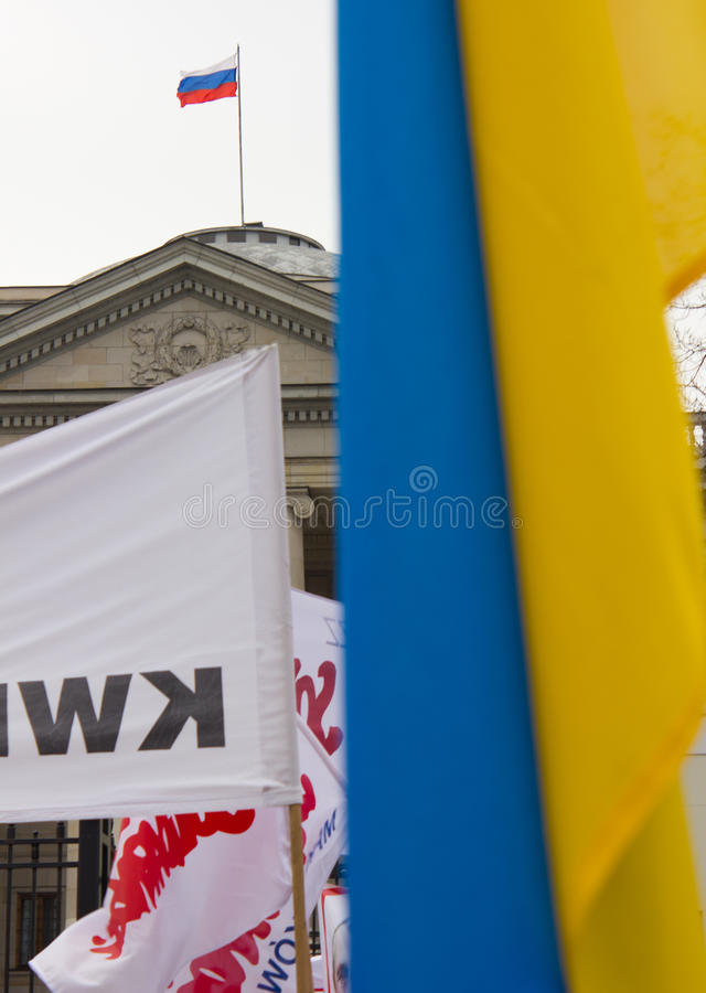 Download Protesters Rally Near Russian Embassy Editorial Image - Image: 38647330