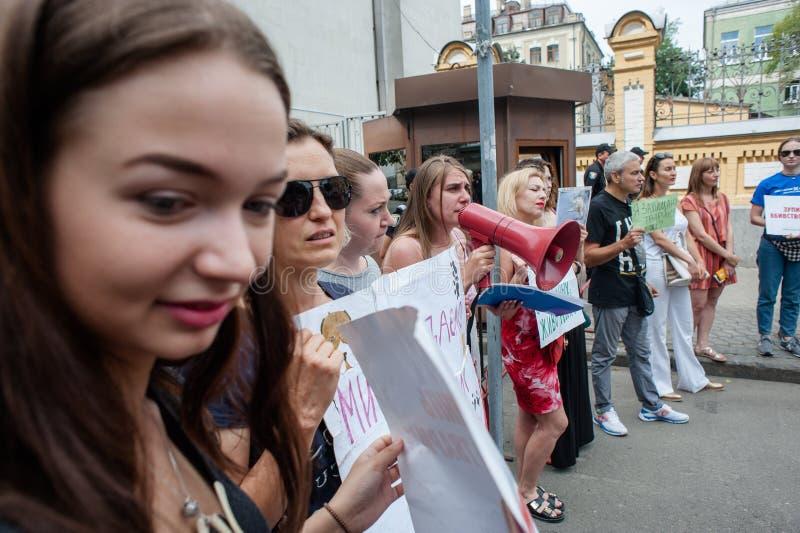 Protesti l'azione delle protezioni animali nell'ambito dell'amministrazione presidenziale fotografia stock libera da diritti