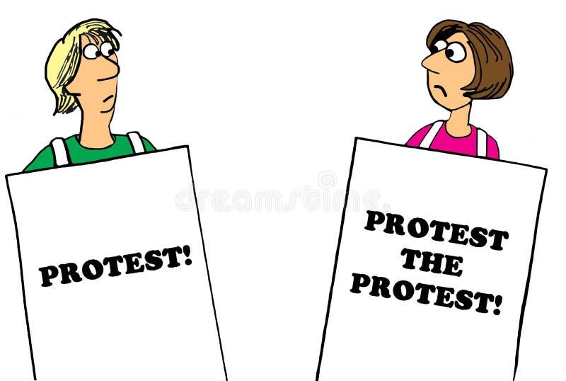 Protestieren Sie den Protest stock abbildung