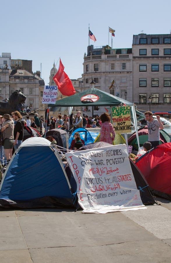 Protestierender in London lizenzfreies stockbild