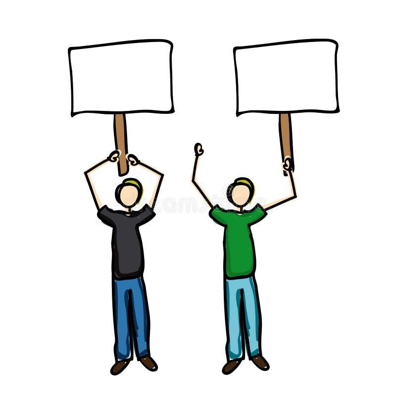 Protestikone vektor abbildung