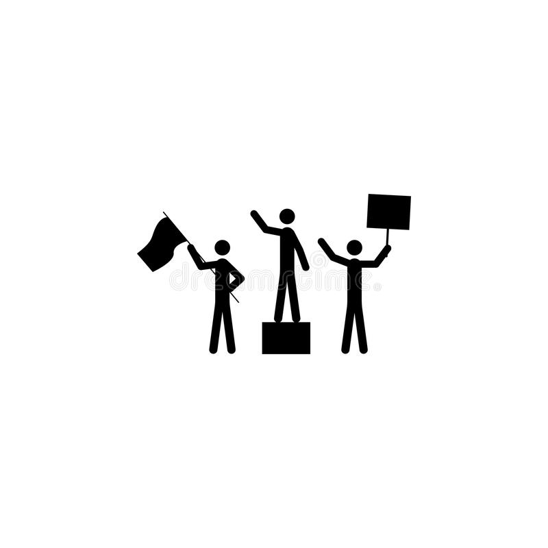 protesting person icon. Elements of protest and rallies icon. Premium quality graphic design. Signs and symbol collection icon for stock illustration
