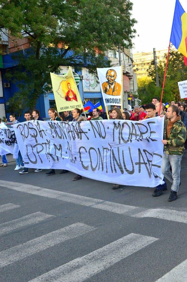 Protesting for Rosia Montana
