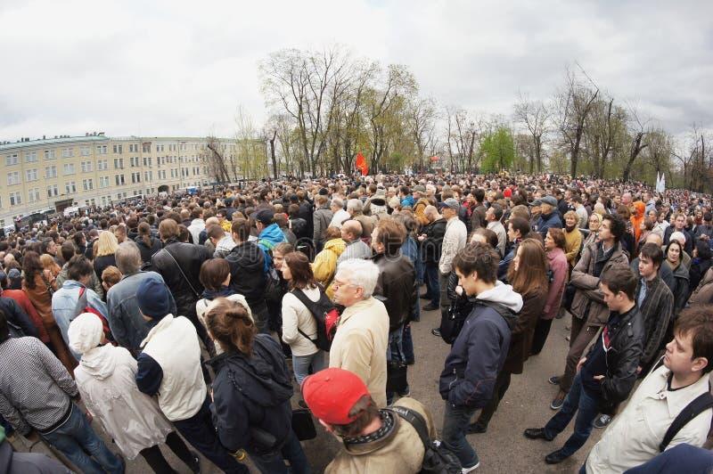 Protestmanifestatie stock foto