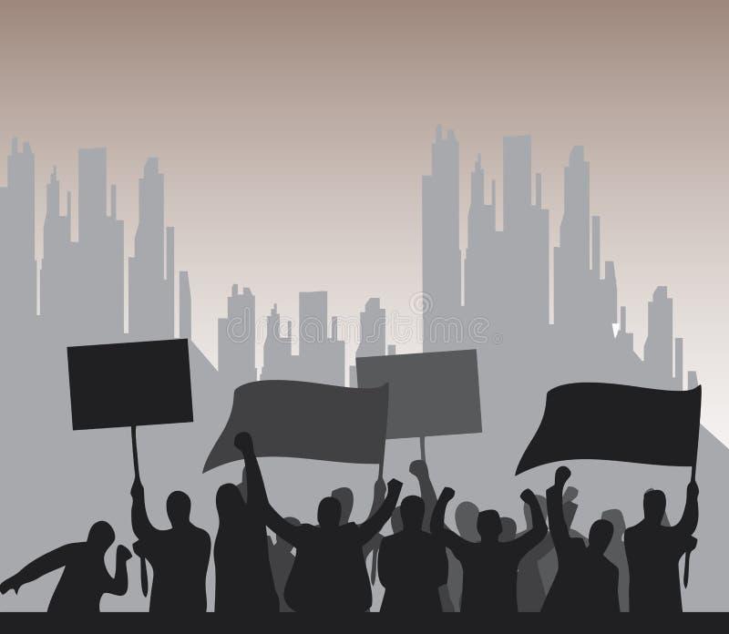 protesto ilustração do vetor