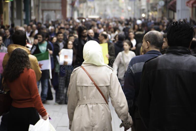 Protesto contra a guerra em Síria fotos de stock royalty free