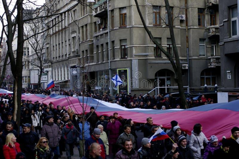 Protesto de ?ntiauthority em Kharkiv, Ucrânia imagens de stock royalty free