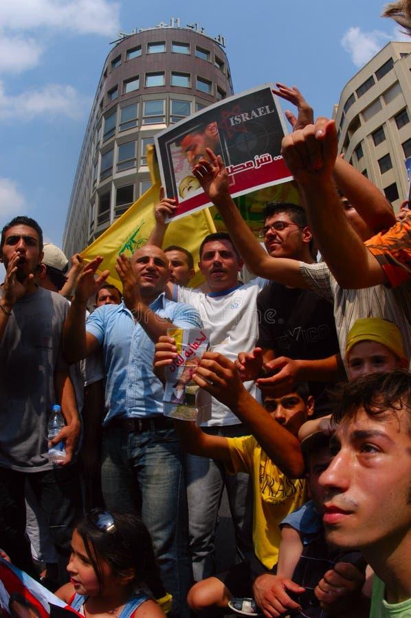 Protesto de Beirute imagem de stock