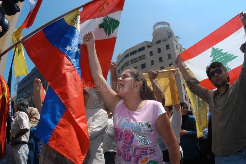 Protesto de Beirute fotos de stock royalty free