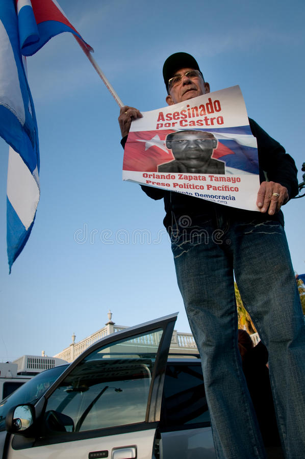 Protesto de Calle 8 Miami imagens de stock royalty free
