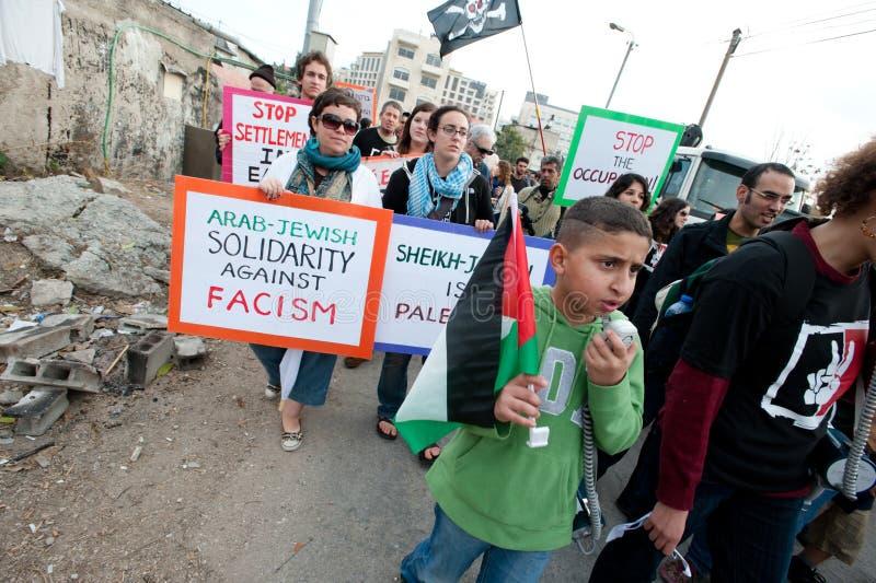 Protesto de Jerusalem imagem de stock royalty free