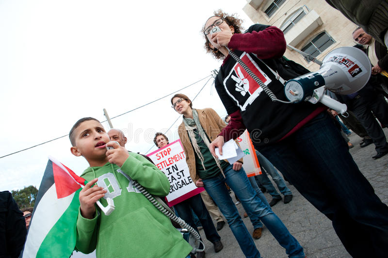Protesto de Jerusalem imagens de stock royalty free