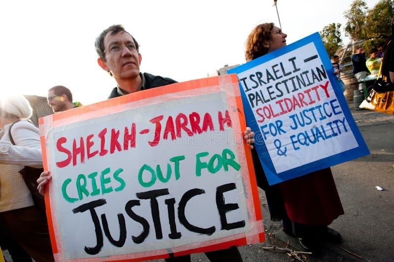 Protesto de Jerusalem imagens de stock