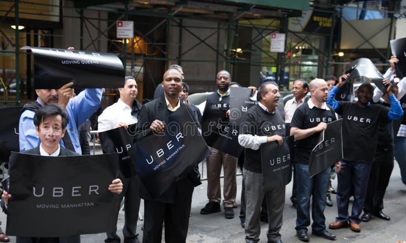 Protesto dos motoristas de Uber fotografia de stock