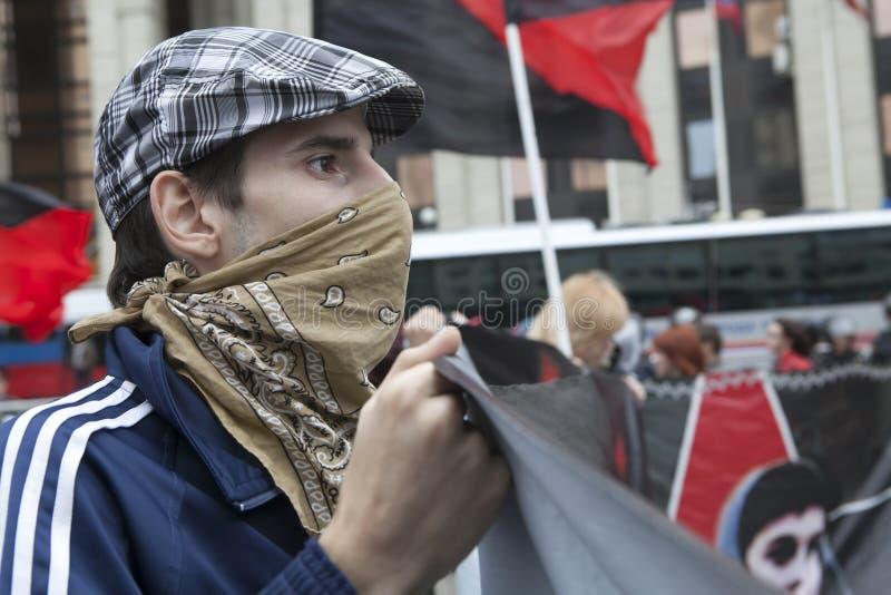 Protesto em Moscovo 15 setembro 2012 fotografia de stock