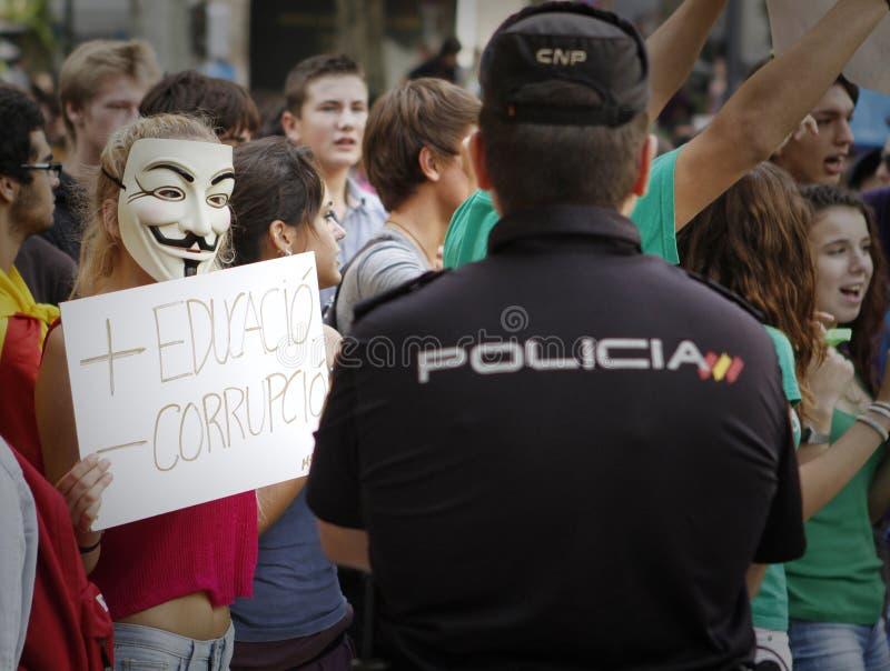 Protesto em spain 023 imagens de stock royalty free