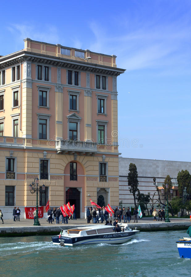 Protesto em Veneza imagem de stock