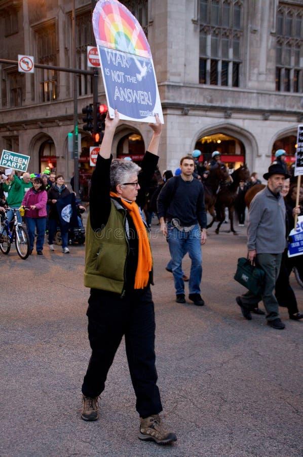 Protesto pacífico fotografia de stock