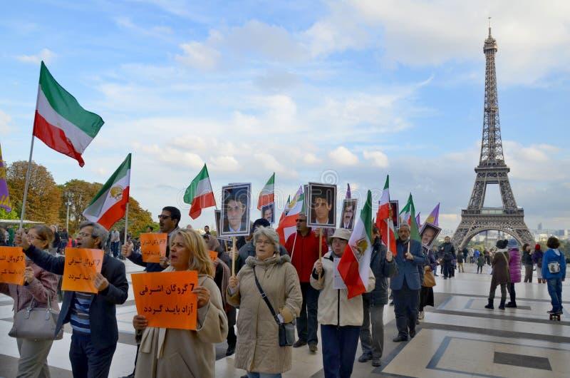 Protesto a respeito do aprisionamento abusivo em Irã foto de stock royalty free
