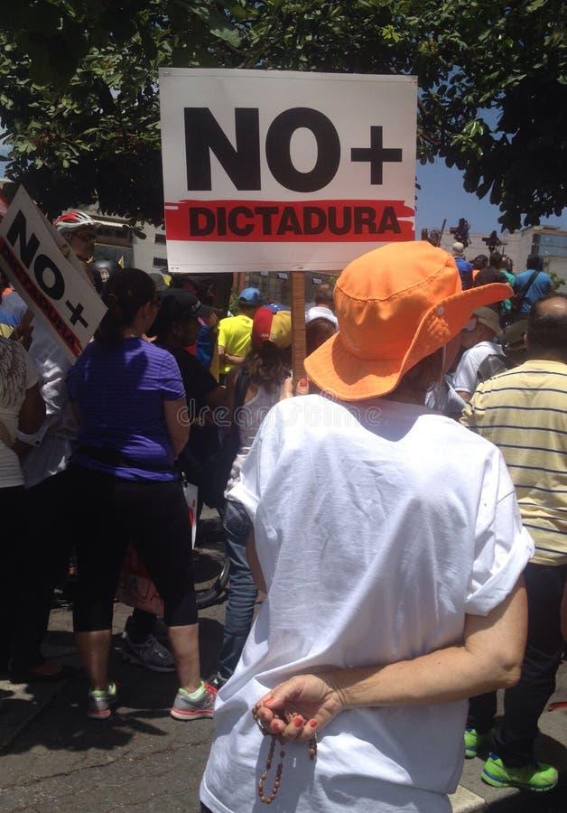 Protesto venezuelano contra Nicolas Maduro & x27; o governo de s fotografia de stock royalty free